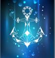 white anchor polygon vector image