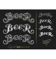 Word Beer vector image vector image