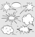 comic speech bubbles pop art style vector image