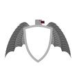 Ferocious gray bird heraldic element for coat of vector image