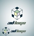 3d logo 6 vector image vector image