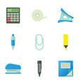 accountant things icons set cartoon style vector image vector image