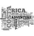 adventure tours in costa rica text word cloud vector image vector image