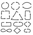 arrows combinations simple and complex black flat vector image