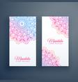 beautiful colorful mandala card design vector image vector image