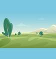 beautiful summer fields landscape with green hills vector image vector image