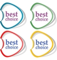 Best choice offer and seller labels with ribbon vector image vector image