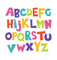 bright cartoon colorful comic kids font vector image