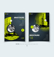 brochure design corporate business report cover vector image vector image