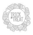 candy corn coloring page trick or treat vector image vector image