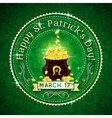 Card for St Patricks Day with text and pot with go vector image