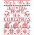christmas pattern driving home for christmas carol vector image