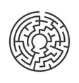 circular maze isolated vector image vector image