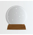 cute cartoon empty snow globe transparent vector image vector image