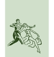 Dancing ballroom dance couple vector image
