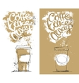 Disposable Coffee Cup with lettering about take vector image vector image