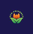 eco-friendly logo vector image