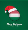 flag of hungary merry christmas and happy new vector image