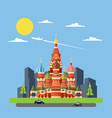Flat design of Russia castle vector image vector image