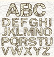 Funky latin alphabet vector | Price: 3 Credits (USD $3)