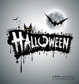 Happy Halloween text design vector image vector image