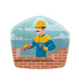 house architecture building builder worker man vector image vector image