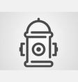 hydrant icon sign symbol vector image