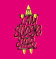 i am super star lettering print vector image