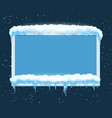 ice winter frame vector image vector image