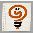 Idea light bulb doodle vector image