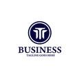 letter triple t logo template vector image