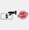 line pay cash icon and scratched cash loan vector image vector image