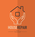 Linear logo home repair vector image vector image