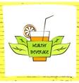 logo fresh fruit coctail Premium beverage vector image vector image