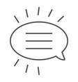 message thin line icon chat and dialog bubble vector image