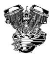 motorcye enginer black vector image vector image
