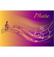 music notes melody visual representation on sheet vector image vector image