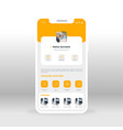 orange profile ui ux gui screen for mobile apps vector image vector image