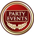 party events icon vector image vector image