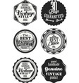premium quality retro badges collection black and vector image vector image