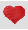 red heart symbol isolated vector image vector image