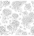 seamless floral pattern with hydrangea vector image