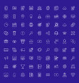 set flat line business icons flat line concept vector image vector image