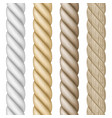 set of different realistic rope vector image vector image