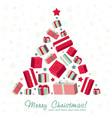 Shape Christmas tree made of gift boxes vector image vector image