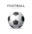 soccer ball football sport 3d icon vector image