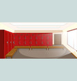sport changing room with locker background vector image vector image