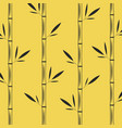 stalks of bamboo with leaves creative oriental vector image