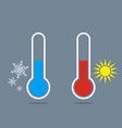 thermometer icon measuring hot and cold vector image vector image