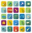 Tool color icons with long shadow vector image vector image